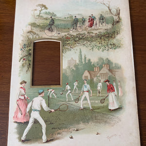 19th century frame Tennis, Cycling