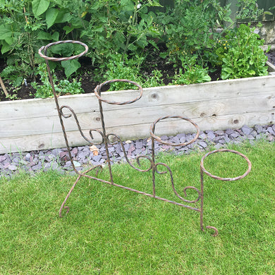 Mid century French iron plant stand