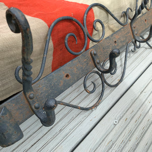 Vintage Cast Metal Coat Hooks