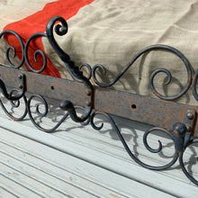 Load image into Gallery viewer, Vintage Cast Metal Coat Hooks