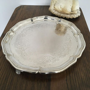 Vintage Silver Plated Salver