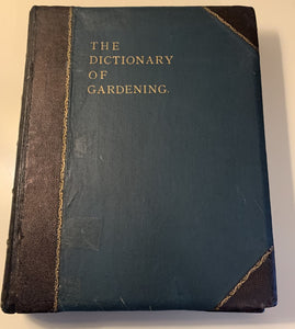Dictionary of Gardening Book