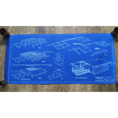 Original American Homes 1950s blueprint #2