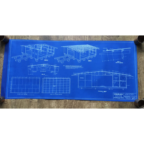 Original American Homes 1950s blueprint #3