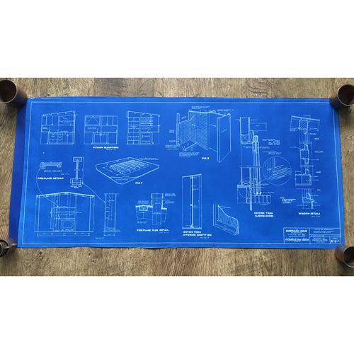 Original American Homes 1950s blueprint #4