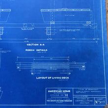 Load image into Gallery viewer, Original American Homes 1950s blueprint #5