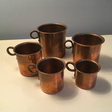 Load image into Gallery viewer, Set of Five Copper Measures