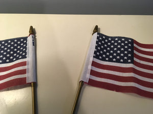 Pair of Small Retro American flags