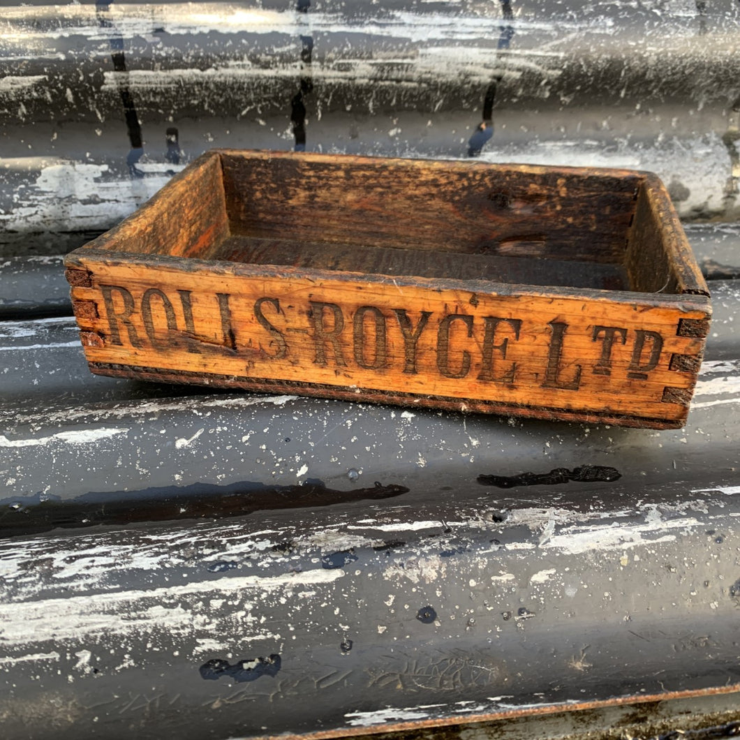 Vintage Wooden Roll Royce Tool Shop Box