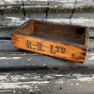 Vintage Wooden Rolls Royce Tool Store Box/Tray