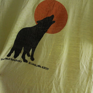 1970s Vintage T Shirt - Wolf Sanctuary - Medium