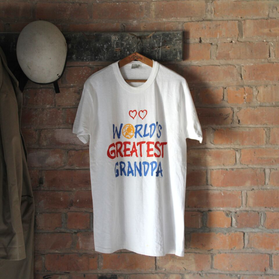 1980s Vintage T Shirt - World's Greatest Grandpa - Large