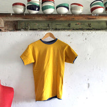 Load image into Gallery viewer, 1980s Vintage T Shirt - Champion - Blue/Yellow Reversible - M