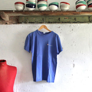 1980s Vintage T Shirt - Champion Blue - L