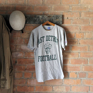 1980s Vintage College T Shirt - East Detroit Football - Large