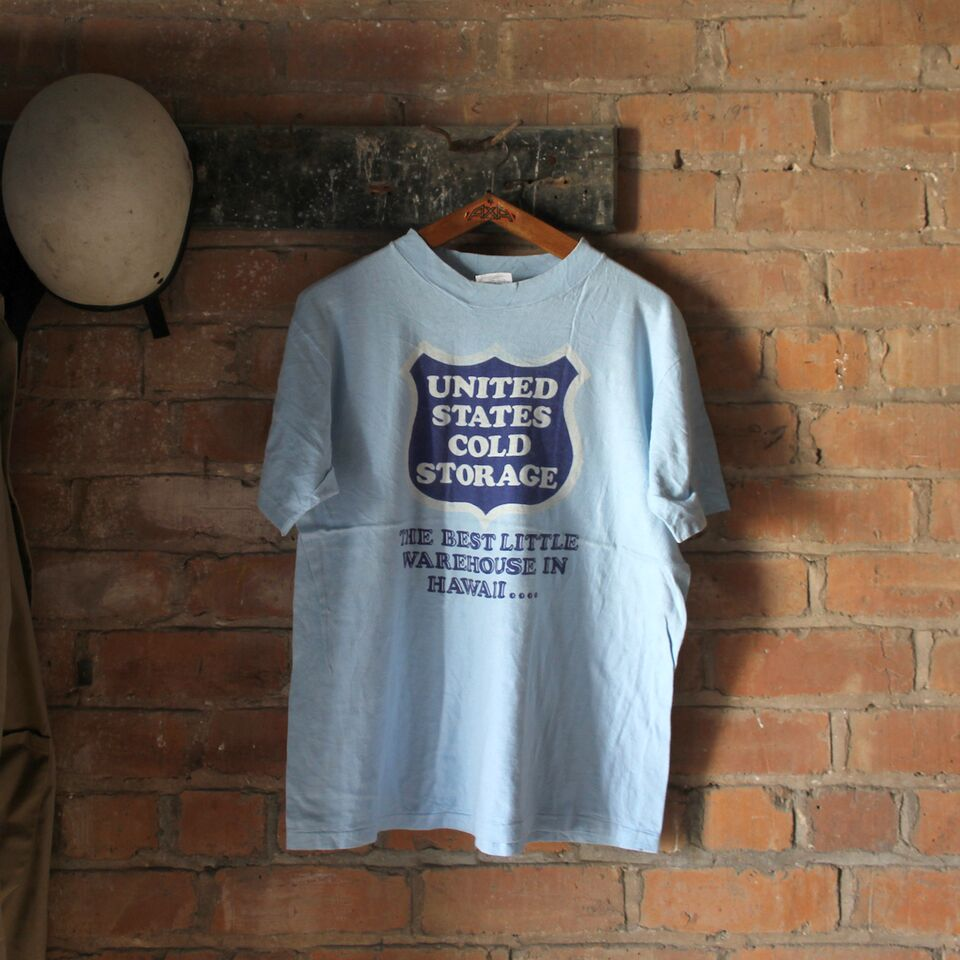 1980s Vintage T Shirt - United States Cold Storage - Large