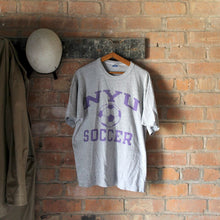 Load image into Gallery viewer, 1980s Vintage College T Shirt - NYU Soccer - Large