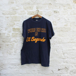 1980s Vintage T Shirt - Where The Hell Is El Segundo - Large