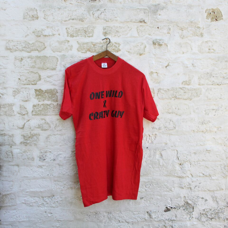 1980s Vintage T Shirt - One Wild & Crazy Guy - XL