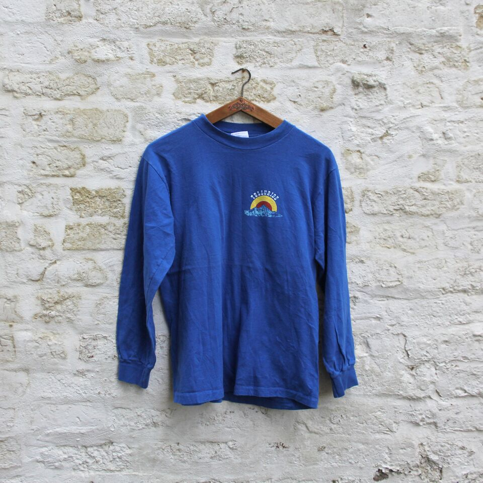 1980s Vintage Long Sleeve T Shirt - Telluride - Medium
