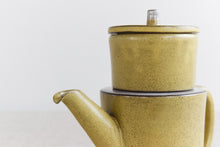 Load image into Gallery viewer, Vintage Yellow Studio Pottery Small Stoneware Teapot