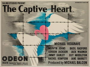 The Captive Heart 1946 UK Quad original film movie poster