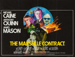 The Marseille Contract 1974 original vintage UK quad film movie poster - Michael Caine, Anthony Quinn and James Mason
