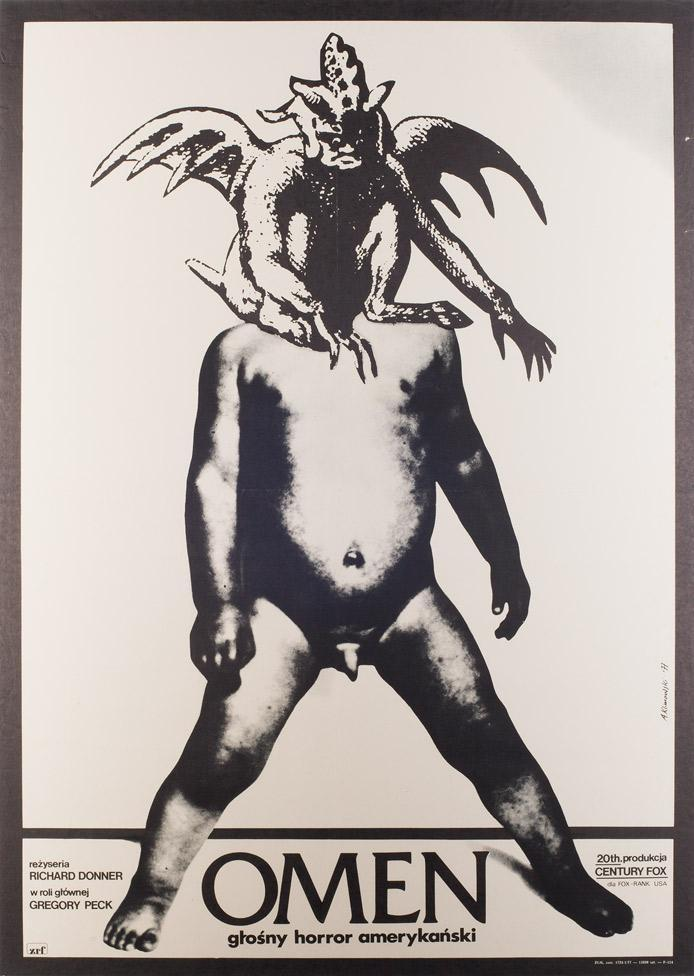 The Omen original 1977 Polish film poster