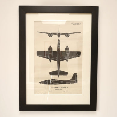 WWII aircraft recognition posters -Tigercat F 7 F-3