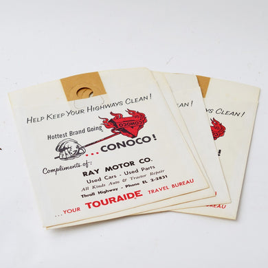 1960s USA Vintage Car Clean Up Bags - Set of Four