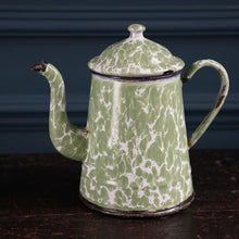 Load image into Gallery viewer, Green & White Mottled Cafetiere