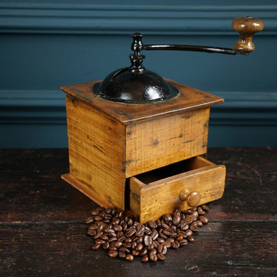 Wood & Metal Coffee Moulin