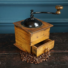 Load image into Gallery viewer, Wood & Metal Coffee Moulin