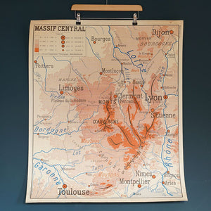 Double Sided French School Map - Dijon/Toulouse