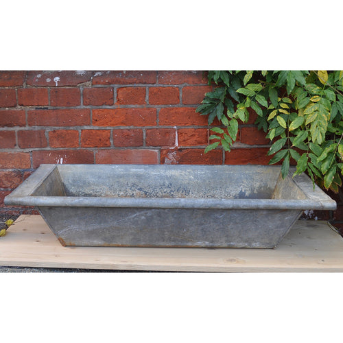 Vintage Galvanised / Zinc Rectangular Bath No5