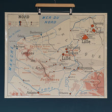 Load image into Gallery viewer, Double Sided French School Map - Lille/Strasbourg