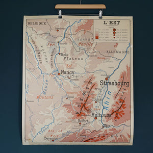 Double Sided French School Map - Lille/Strasbourg
