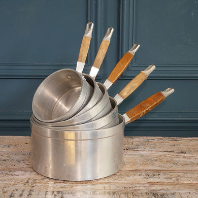 Set of Five Aluminium Pans