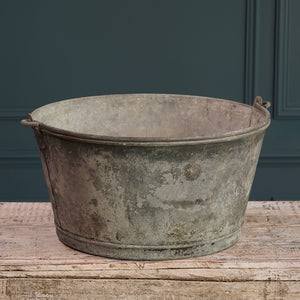 Galvanised Bucket with Metal Handle