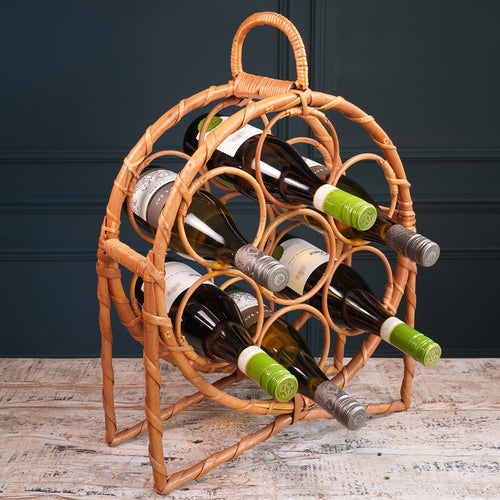 Round Bamboo Wine Rack