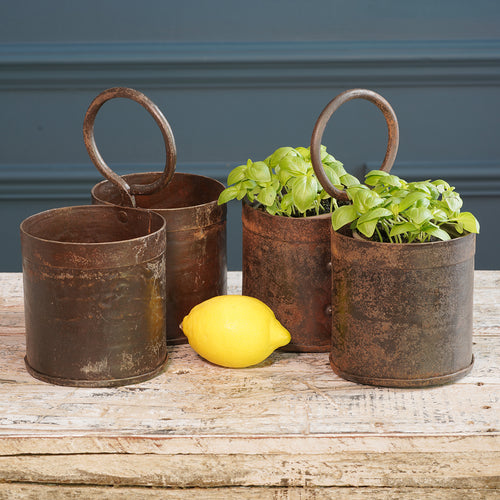 Double Metal Buckets with Hoop Handles