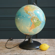 Load image into Gallery viewer, Vintage Earth Light Up Globe with Black Frame
