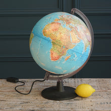 Load image into Gallery viewer, Vintage Earth Light Up Globe with Black and Clear Frame