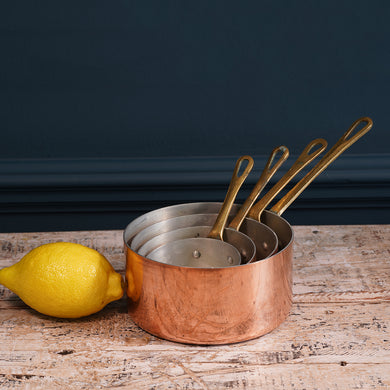 Set of Four Copper Pans