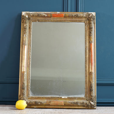 Black and Gold Wooden Mirror