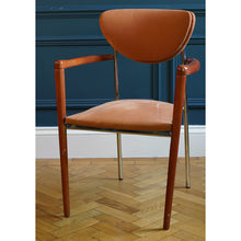 Load image into Gallery viewer, Pair of 1970s Orange Velour Casino Chairs
