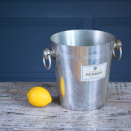 Henriot Silver Metal Champagne Bucket
