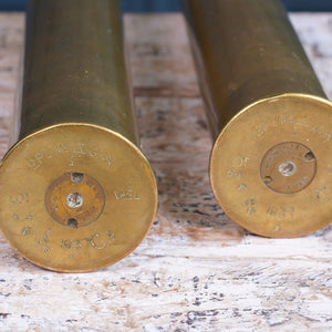 Pair of Small Brass Shells