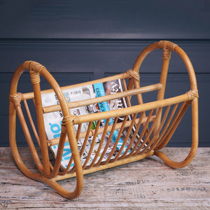 Pale Wood Bamboo Magazine Rack