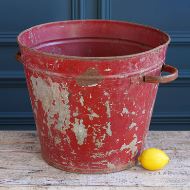 Portuguese Red Galvanised Bucket